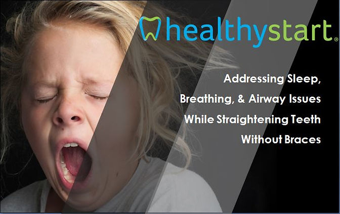 Child yawning due to sleep issues and using Healthy Start to correct it.