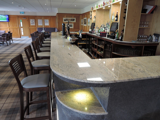 New Granite Bar At Knowle Golf Club