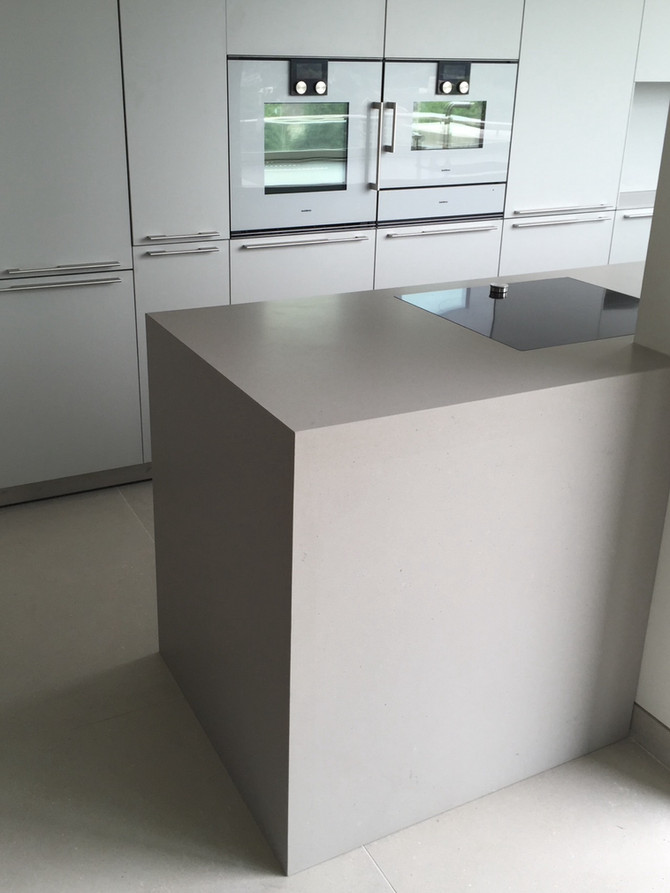 Amazing Quartz Kitchen   Raw Concrete