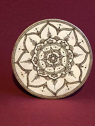 Frame Drum with Henna design