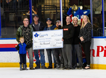 $1000 Donation from the Penticton Vees