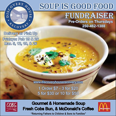 Soup is good food discovery house recovery penticton