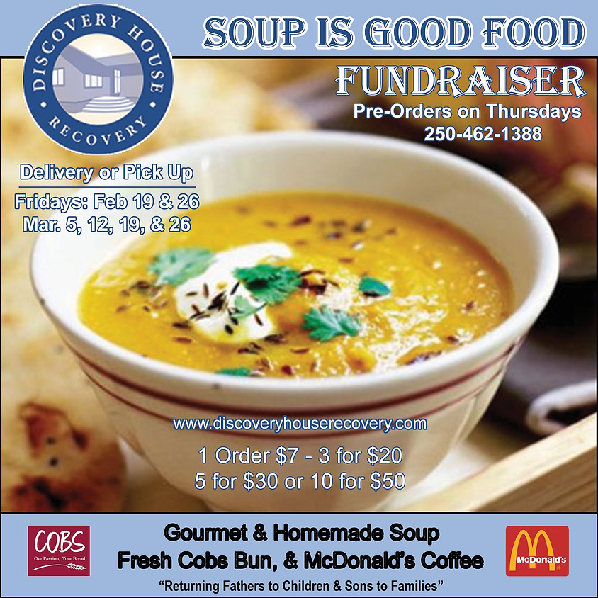Soup Is Good Food Fundraiser on Fridays