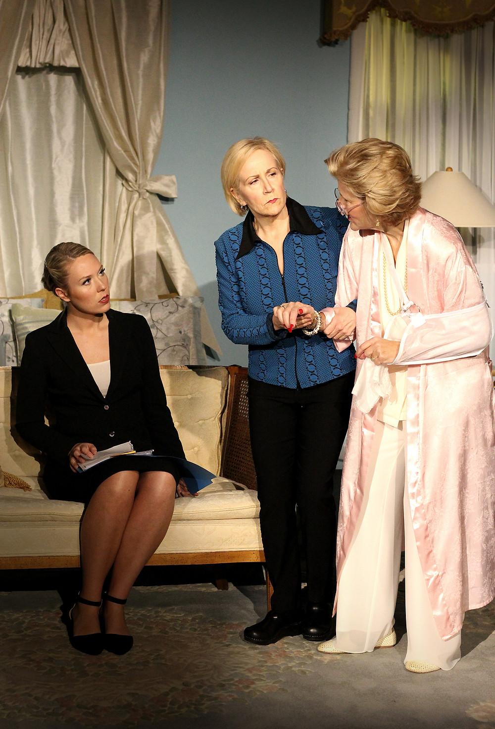 Langley Cornwell as Woman B in Three Tall Women. Photo by Daniel Velasco.