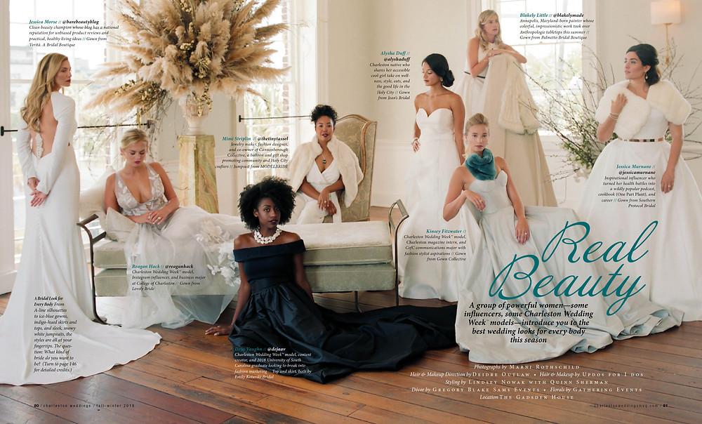 Jessica, far right, rocks Matthew Christopher's Antoinette Gown