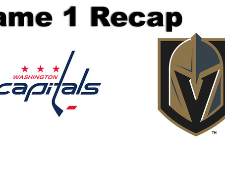 Golden Knights win Back and Forth Game 1