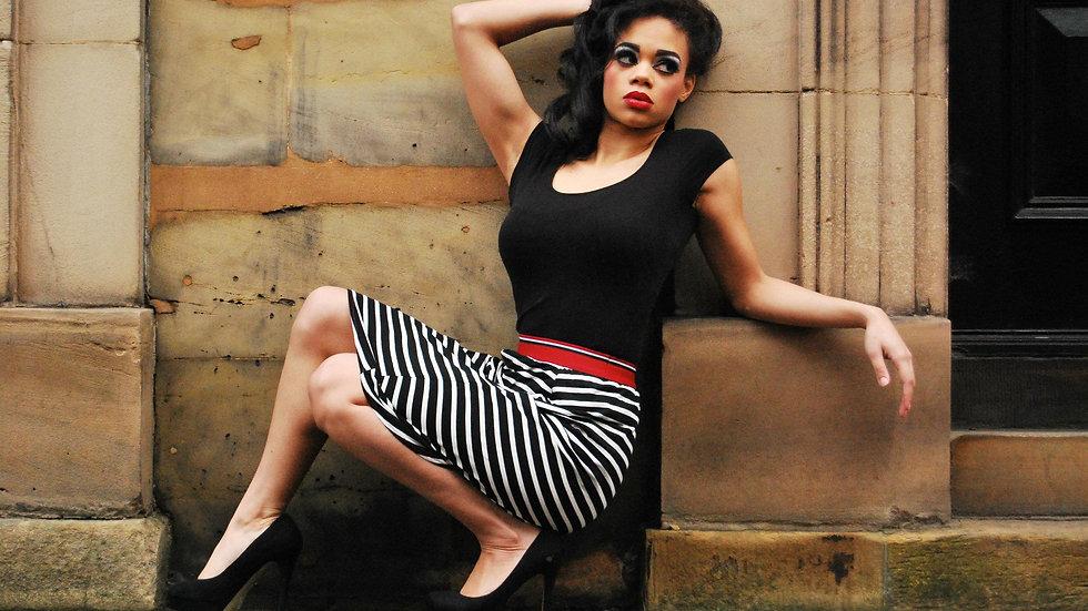 Alisha - Black & White Skirt