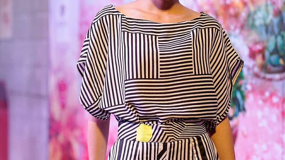 Lexi - Black & White Blouse