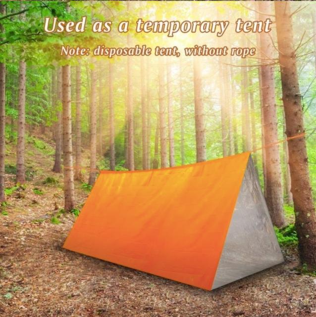 多用途緊急睡袋 - 保暖防水、耐用、可重複使用 Lightweight Emergency Sleeping Bag Thermal Waterproof