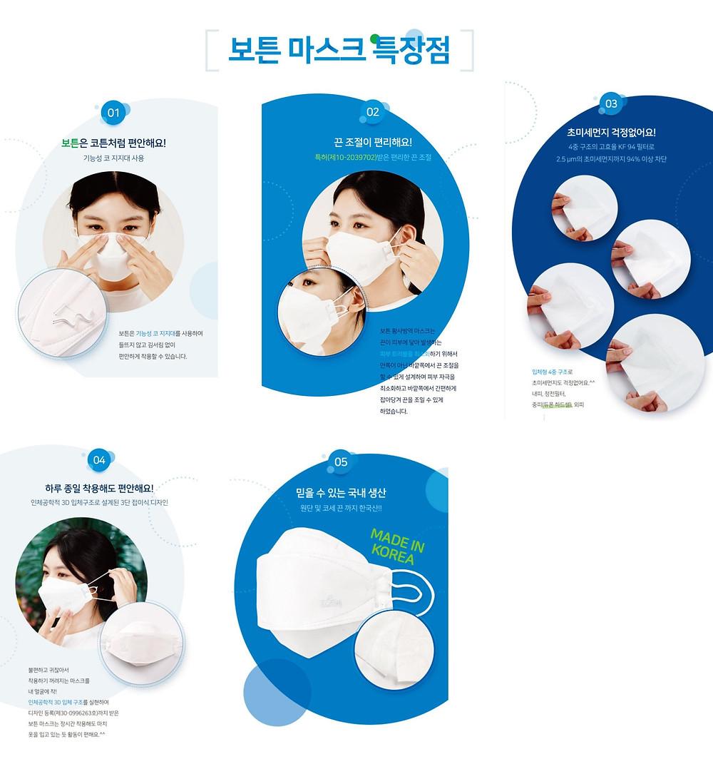 韓國原裝KF94口罩(3個/包) 四層高過濾防病毒 MEDI KF94 Mask 3pcs/pack
