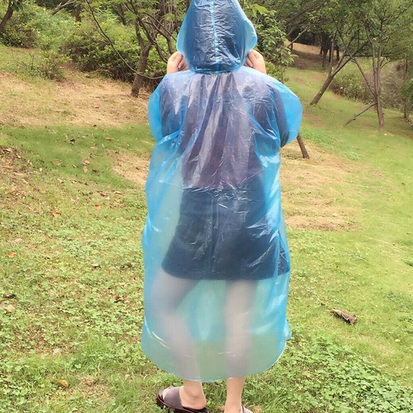 一次性頭套雨衣 成人應急防水防雨 遠足野營 Disposab
