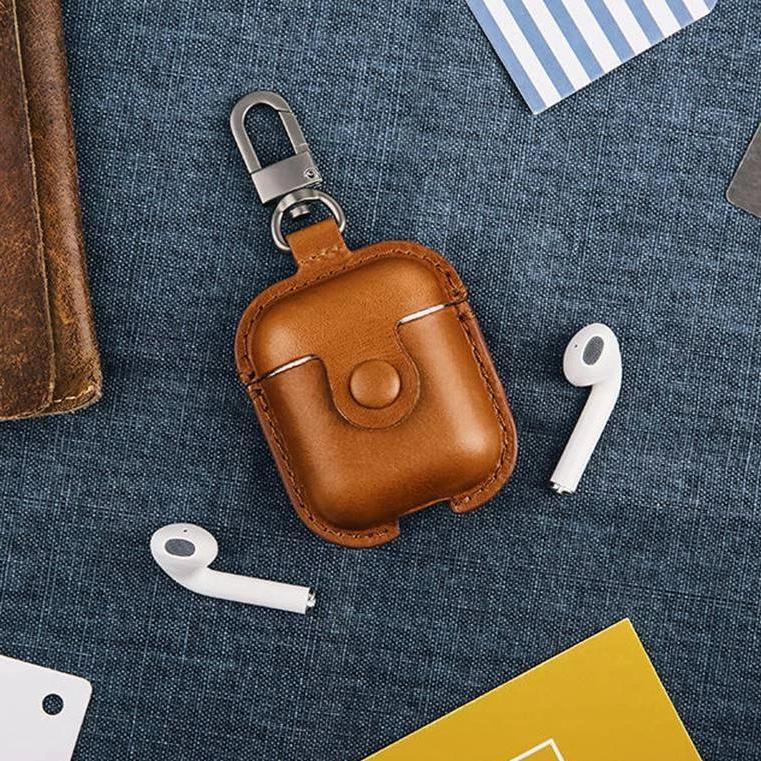 Airpods Leather Case 高質量皮革保護盒(三種顏色)
