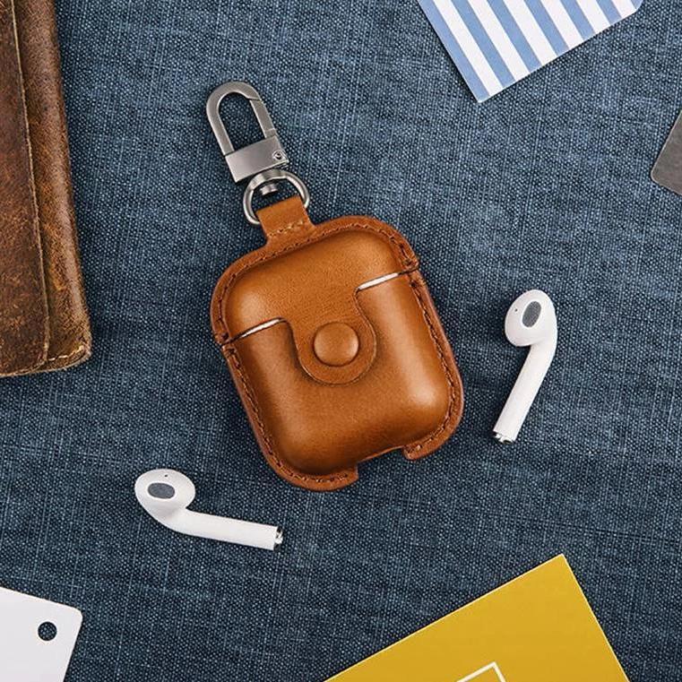 Airpods Leather Case 高質量皮革保護盒