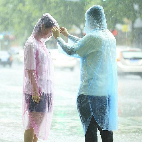 一次性頭套雨衣 成人應急防水防雨 遠足野營 Disposable Adult Emergency Waterproof Rain Coat