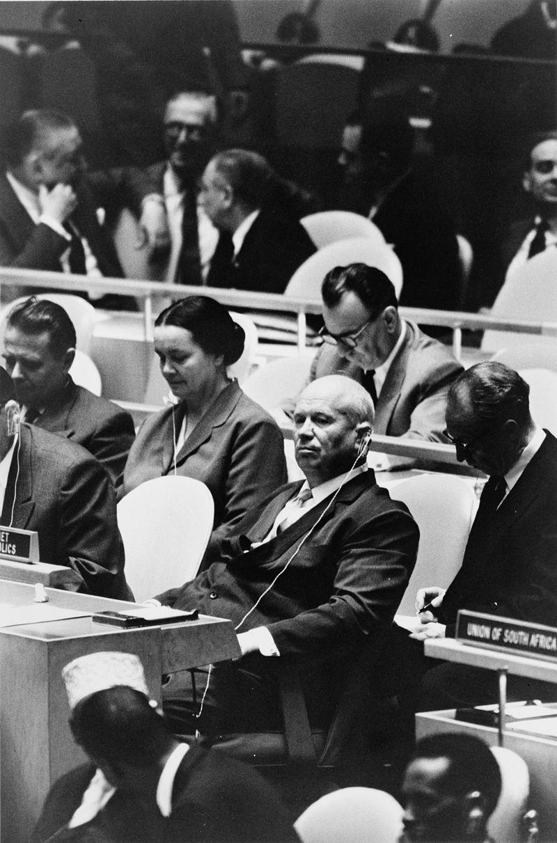 出席1960年聯合國大會的赫魯雪夫