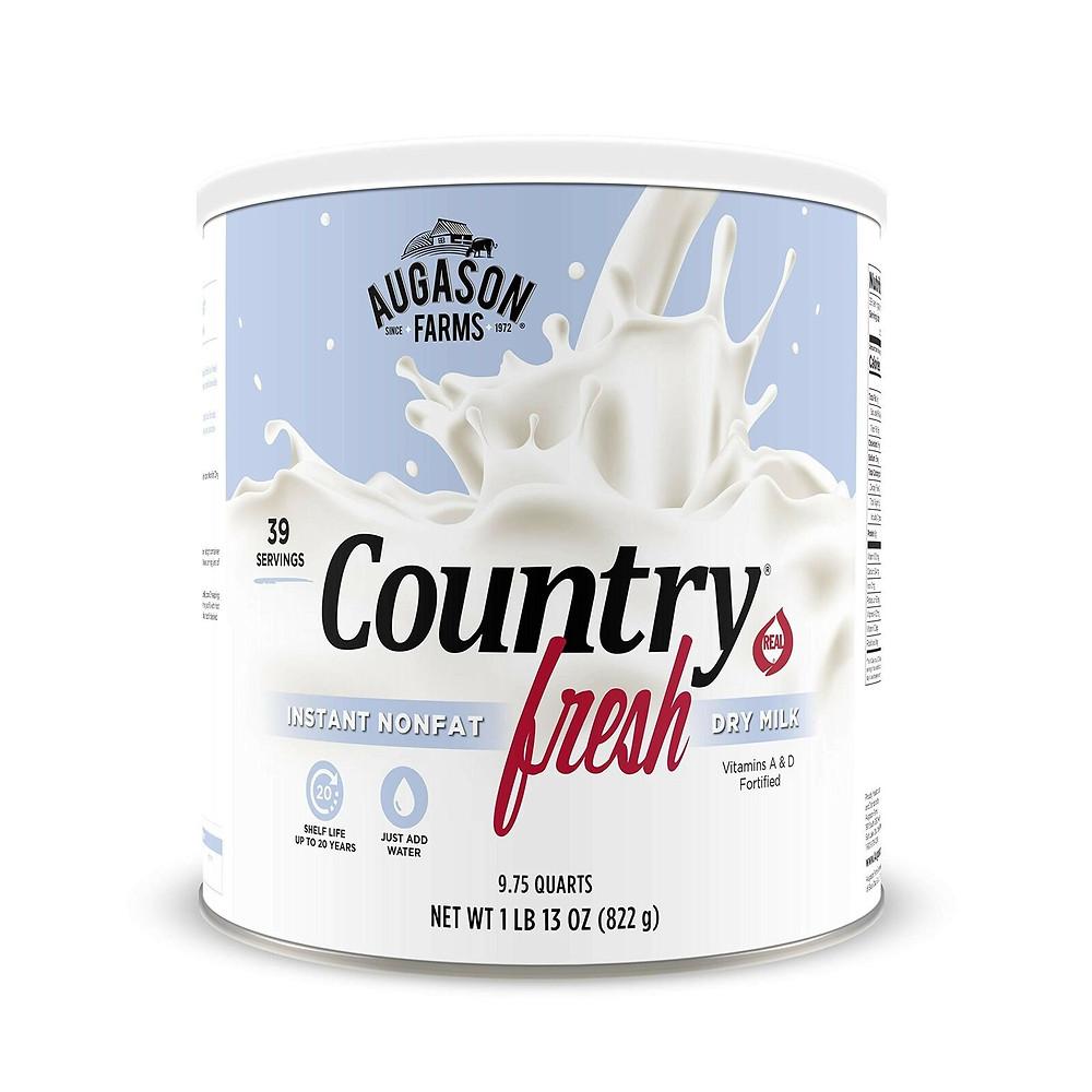 100%真正的速溶脫脂牛奶粉 Country Fresh 100% Real Instant Nonfat Dry Milk