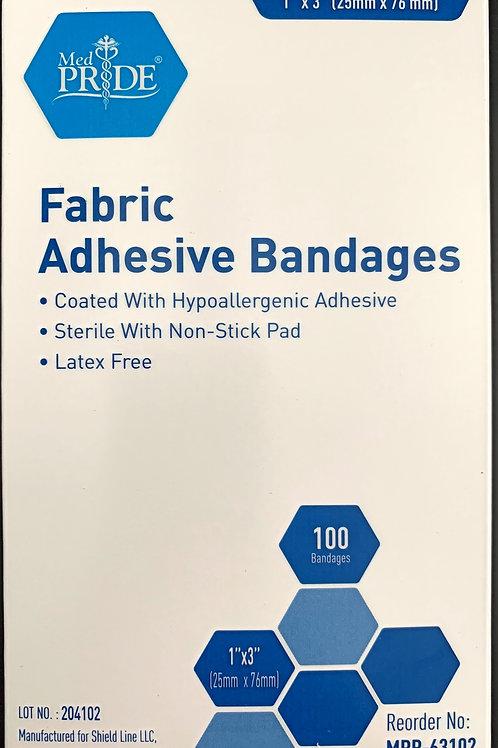 Med PRIDE Fabric Adhesive Bandages 100/box Latex Free