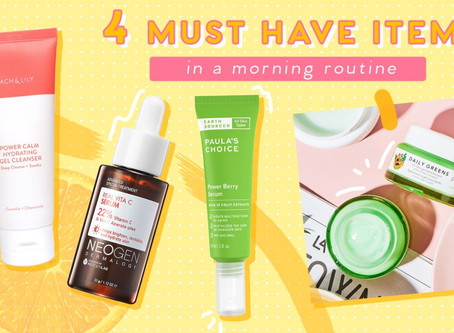 4 Skincare Steps You Need in your Daytime Routine