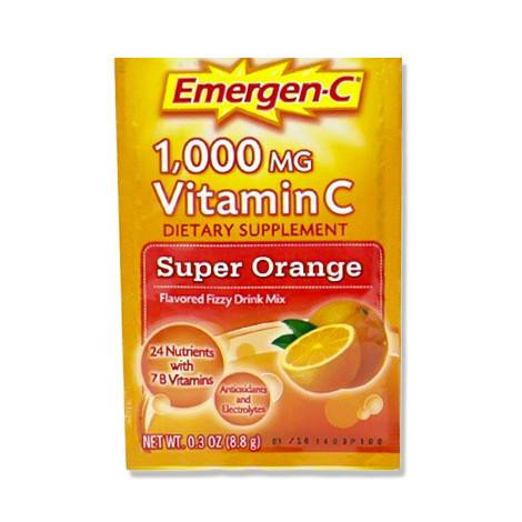 增強免疫力 Emergen-C 1,000 MG Vitamin C with B Vitamins - Super Orange