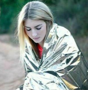 """多功能急救毯 保持體溫(90%) 4 Packs Emergency/Survival Blankets 84""""x52"""" CE 認證"""