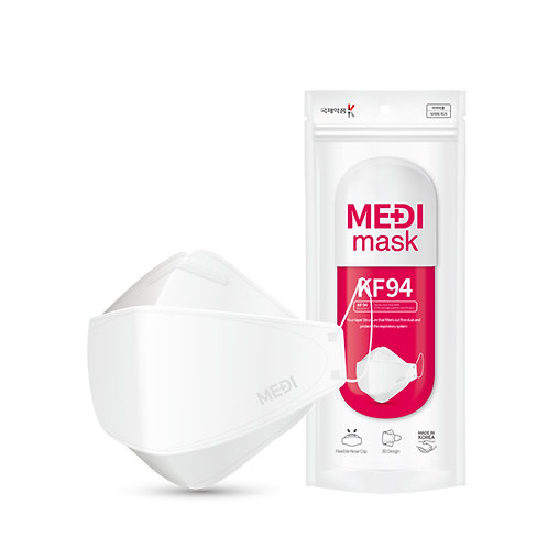 MEDI MASK (KF94/N95) - Medical & Hospital Standard (3pcs/Pack)