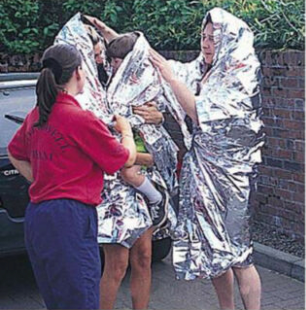 "多功能急救毯 保持體溫(90%) Emergency Rescue Space Thermal Mylar Blanket 84""x52"" CE 認證"