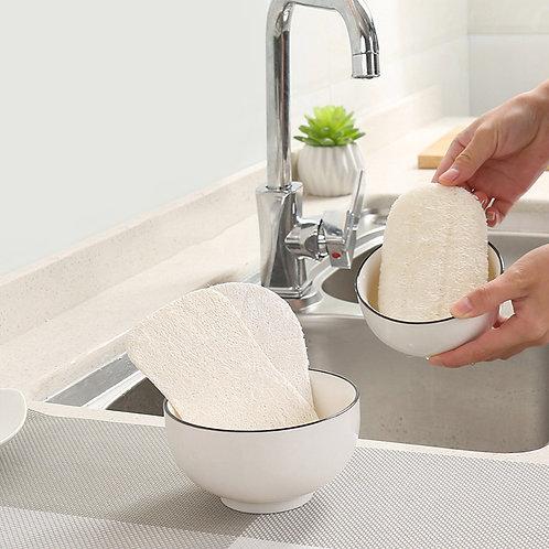 純天然絲瓜絡百潔布 洗碗 沐浴 易於清潔的洗滌海綿 3pcs/set Natural Loofah Dishwashing Cloth Scrub Pad