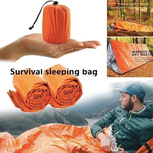 2x 多用途緊急睡袋 - 保暖防水、耐用、可重複使用 Lightweight Emergency Sleeping Bag Thermal Waterproof