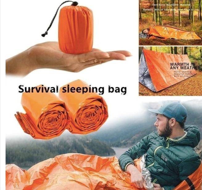 2x 多用途緊急睡袋 - 保暖防水、耐用、可重複使用