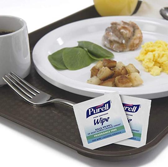 25包 Purell® 洗手濕巾 美國醫院首選 酒精配方 可殺死超過99.99%的致病細菌 獨立包裝
