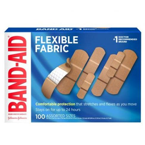 美國強生創可貼 100/盒 Band-Aid Brand Flexible Fabric Adhesive Bandages