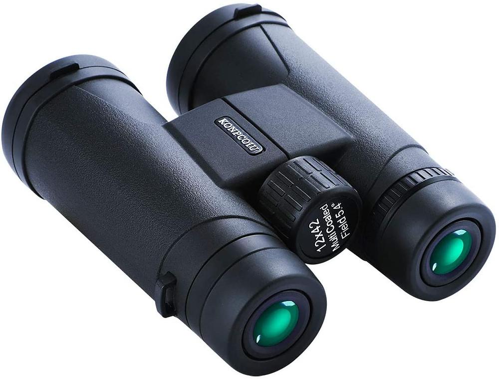 12x42 便攜式、防水雙筒望遠鏡 有夜視功能