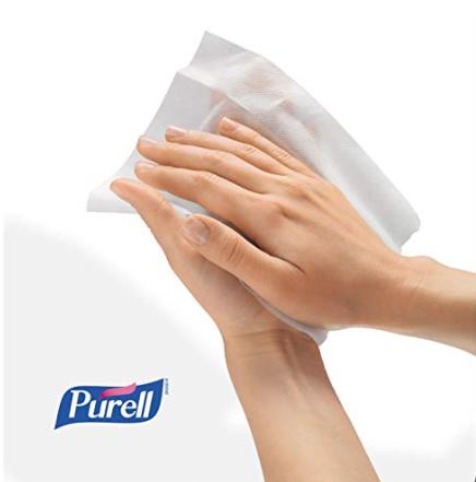 Purell® 洗手濕巾 美國醫院首選 酒精配方 可殺死超過99.99%的致病細菌 8個獨立包裝