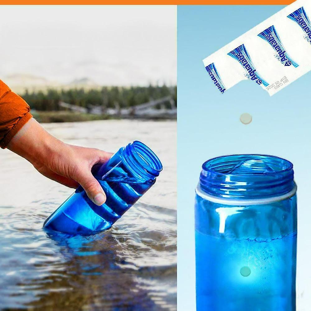 水淨化片 100pc Aquatabs World's Best Water Purification Tablets for Water Treatment