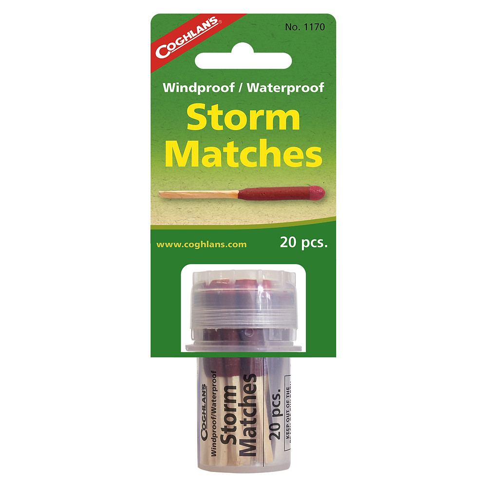 軍事級防暴風雨火柴 Windproof and Waterproof Coghlans 1170 Storm Matches - NATO approved