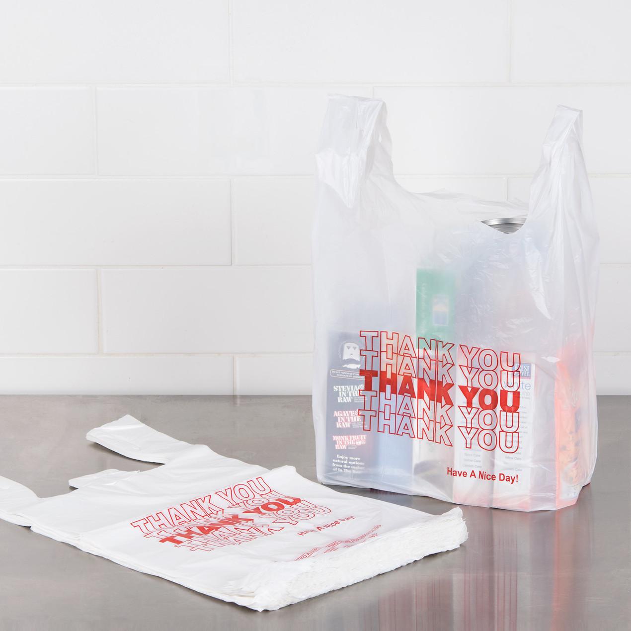 白色塑料袋 多用途 堅固耐用 1/6 Size .59 Mi