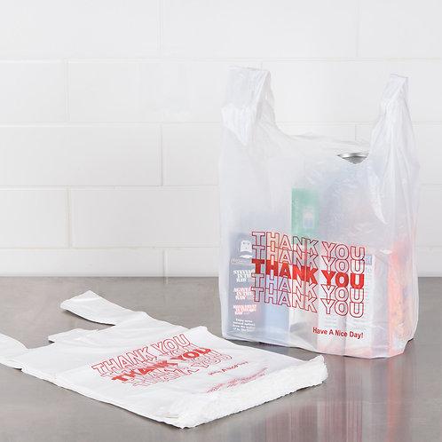 10x 白色塑料袋 多用途 堅固耐用 1/6 Size .59 Mil White Thank You Plastic T-Shirt Bag