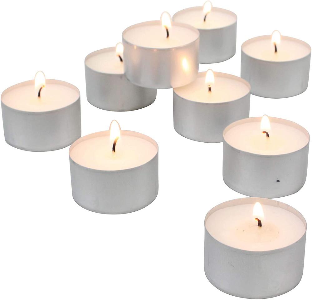 6小時燃燒時間的無香蠟燭