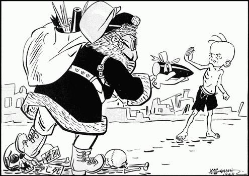1948年《大公報》上連載的三毛流浪記插圖
