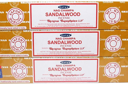 特級印度檀木供香 3盒(15g/盒) Sandalwood Incense Sticks Traditionally Hand rolled