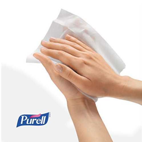 """25x Hand Sanitizing Wipes, Individually Wrapped, 5"""" x 7"""", with skin conditioners"""