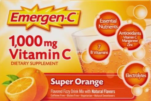 增強免疫力 Emergen-C 1,000 MG Vitamin C with B Vitamins - Super Orange