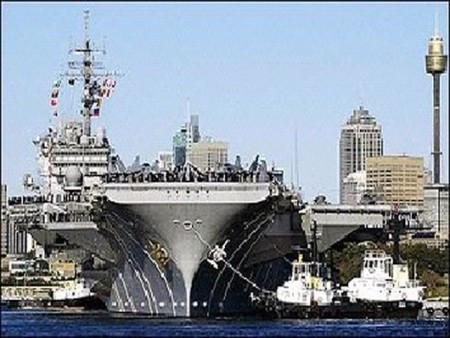 美國核航母-圖片來源:法新社