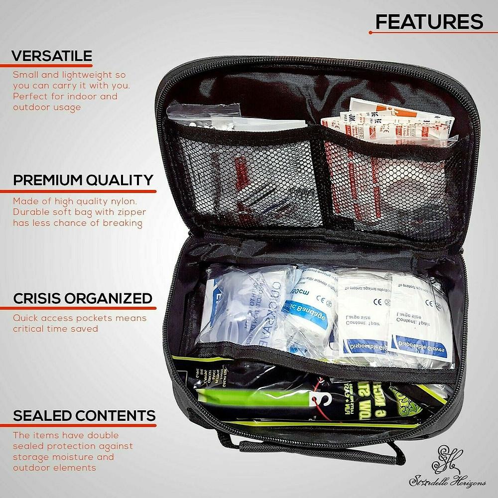 FDA認證 Stardello Horizons急救箱 包含一個迷你箱 First Aid Kit (Mini Kit Included)-152 Pieces