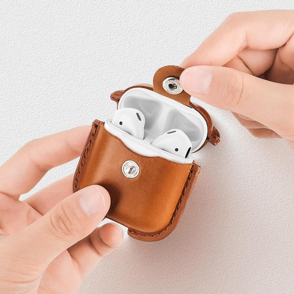 Airpods Leather Case 高質量皮革保護盒(三種顏色)
