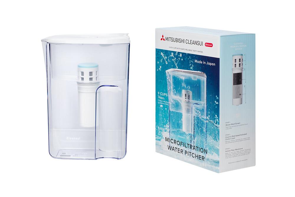 日本原裝 三菱Cleansui中空纤维膜净水器 Micro Filtration Pitcher
