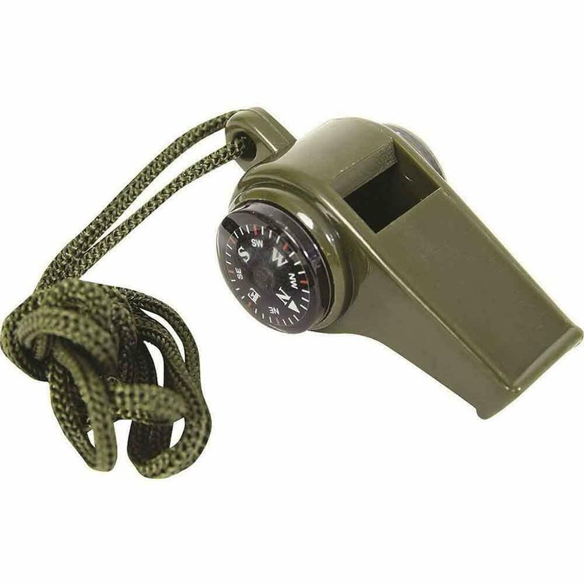 3合1紧急求生装备 口哨罗盘温度计 Whistle Comp