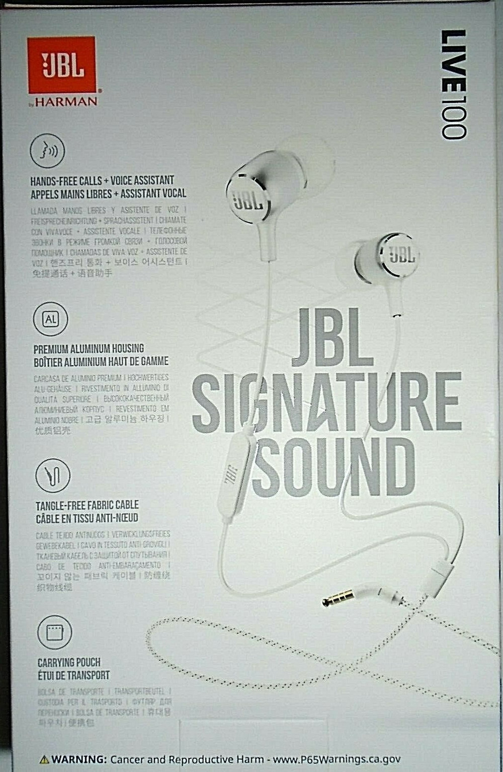 JBL Live 100 in-Ear Headphones with Remote - JBL Signature Sound