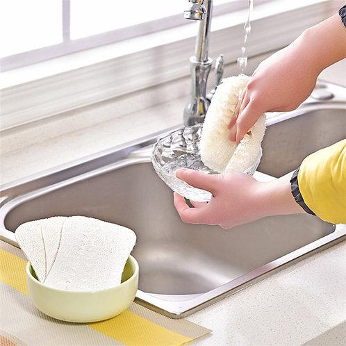 3pcs/set Natural Loofah Dishwashing pad, Biodegradable Scrub Pad, Shower Pad