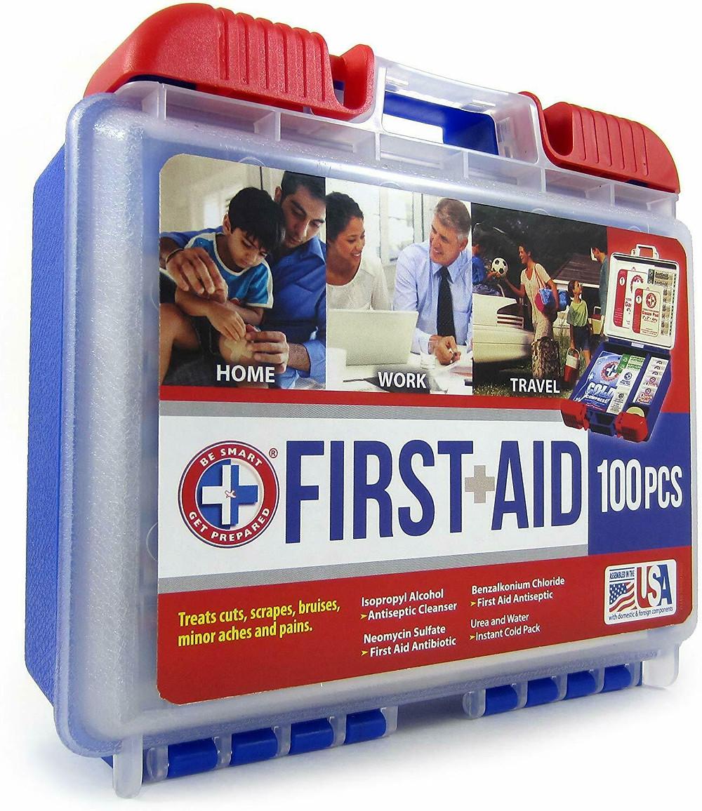 USA #1 First Aid Kit Medical Car Travel Emergency Medicine Survival- FDA 認証